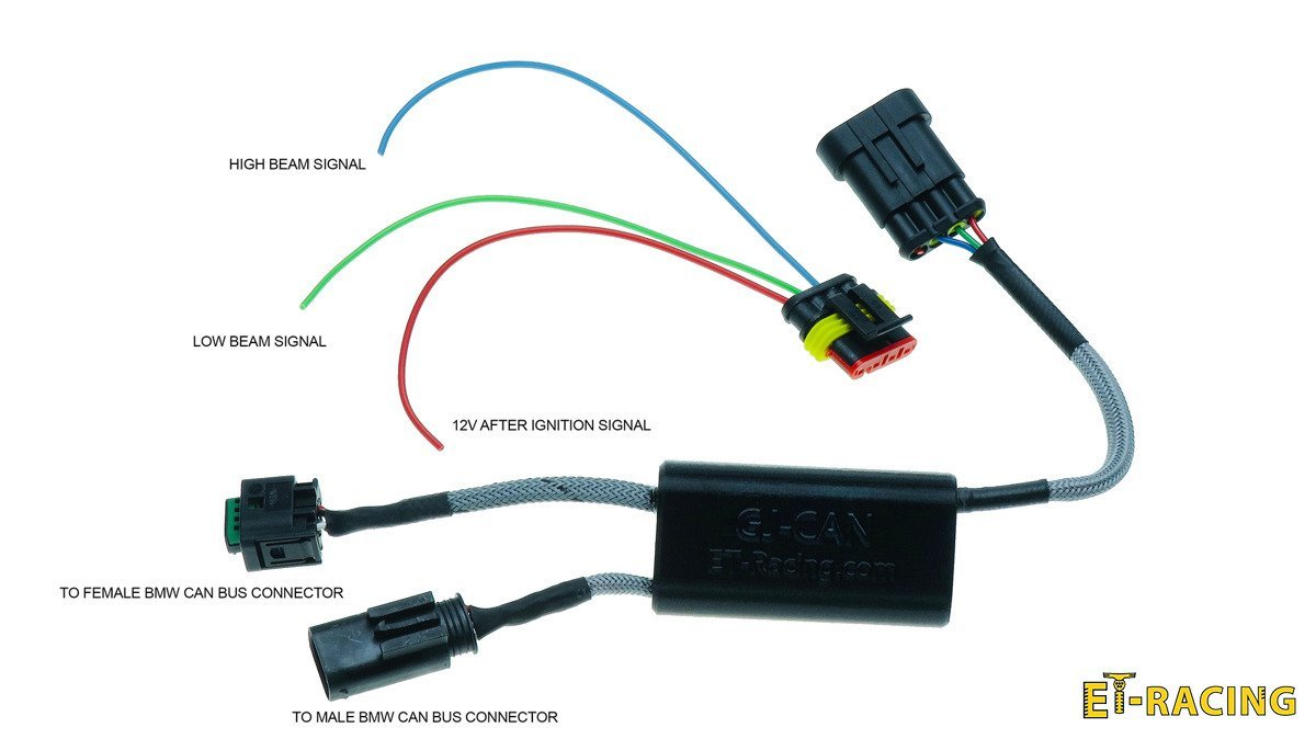 hight resolution of set 2x dual 4 with crash bard mounts gj can driver for bmw