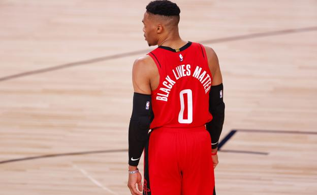 Russell Westbrook, during a game with the Wizards.