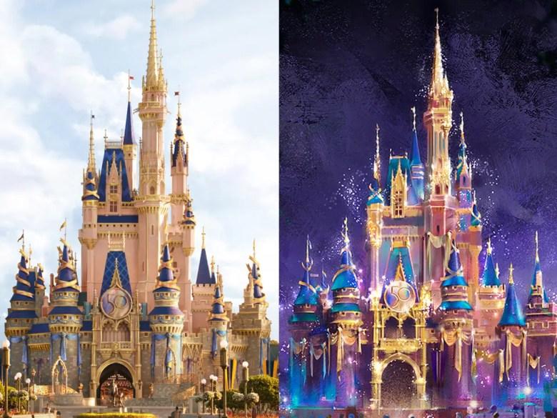 cinderella castle 50th anniversary makeover