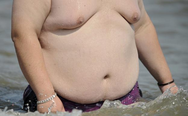 Overweight man.
