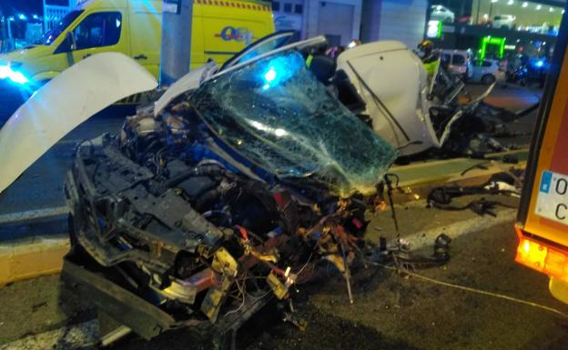 Condition of the vehicle after the accident.