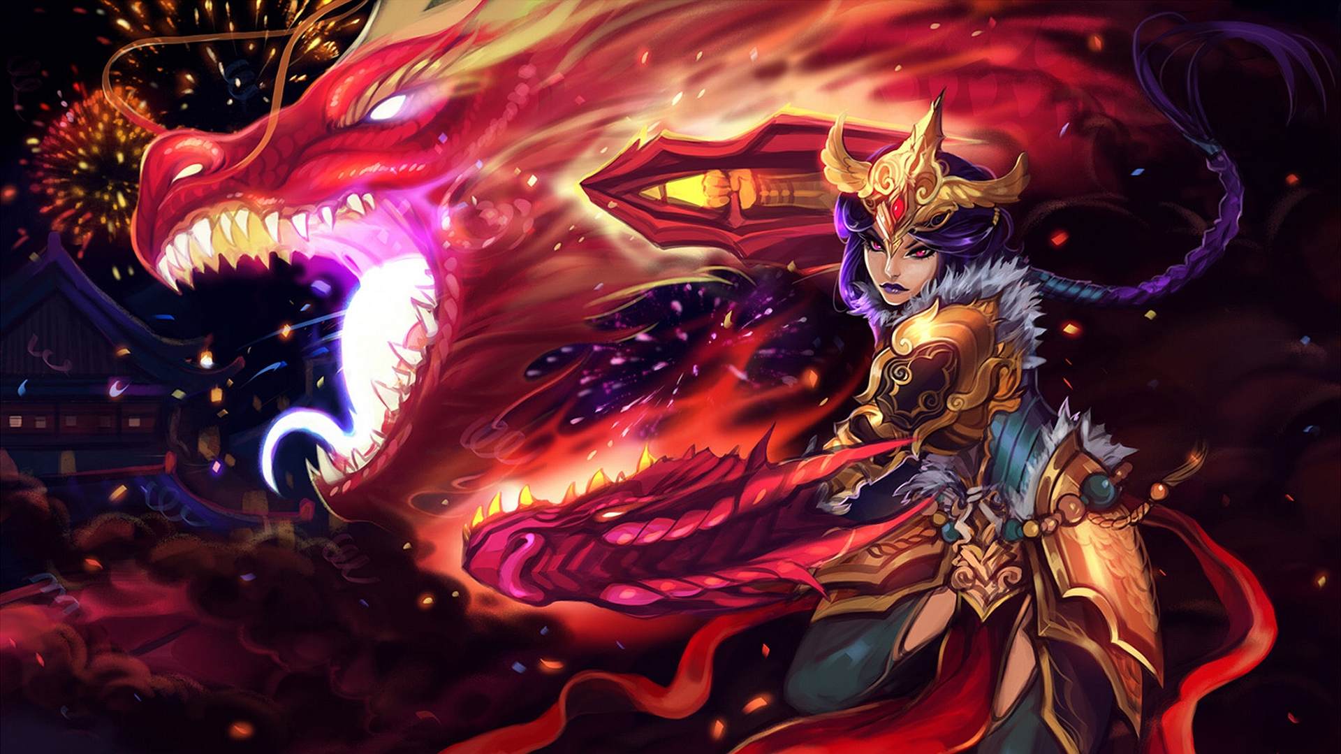 Draven And Girls Wallpaper Shyvana Lolwallpapers