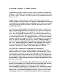 Fredrick Douglass Essay Narrative Of Frederick Douglass Essay