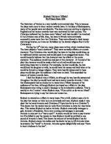 Merchant of venice essay refuting the critics