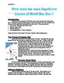 There Are Many Causes Of World War One Some Long Term And