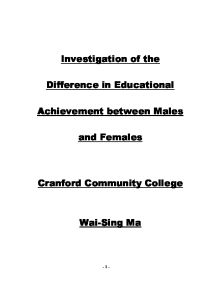 Investigation of the Difference in Educational Achievement