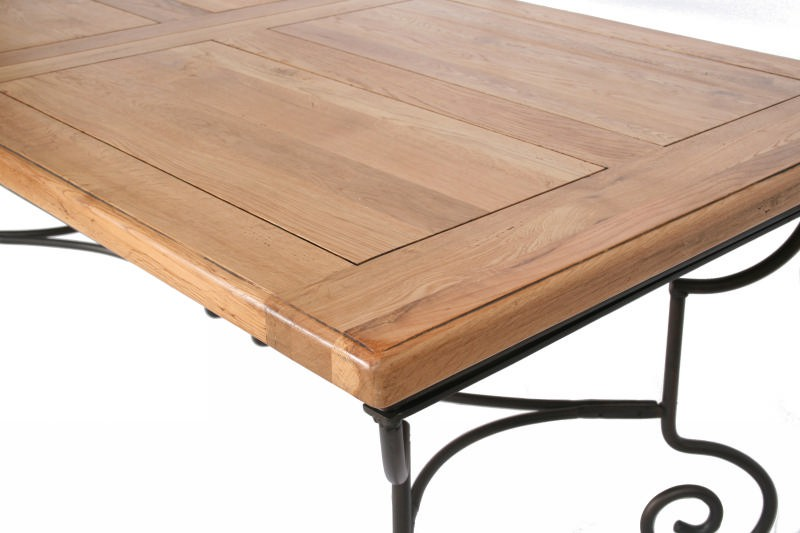 Table Bois Pied Fer Forge