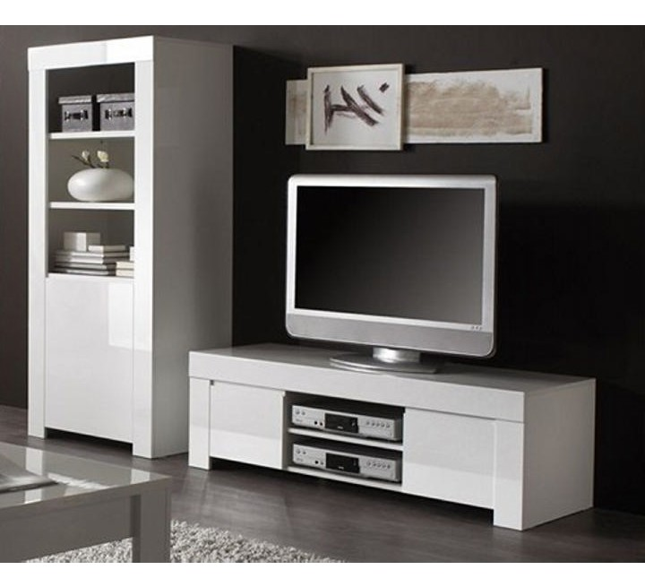 bibliotheque moderne blanc laquee trendy