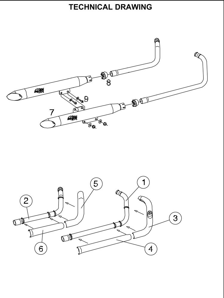 Tłumik SilverTail K02 do HONDY VT 750C2 ACE SHADOW [97-01