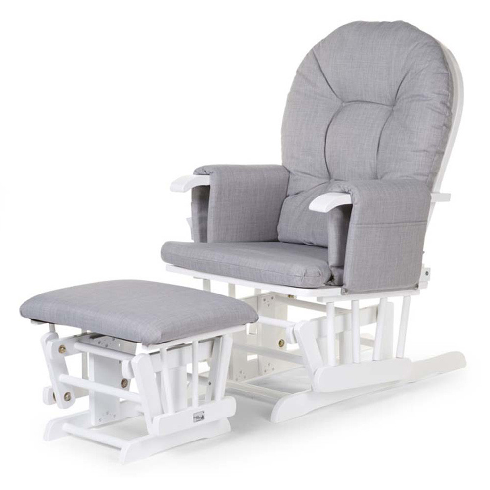 Gliding Chair Childhome Gliding Chair Grey With Footrest