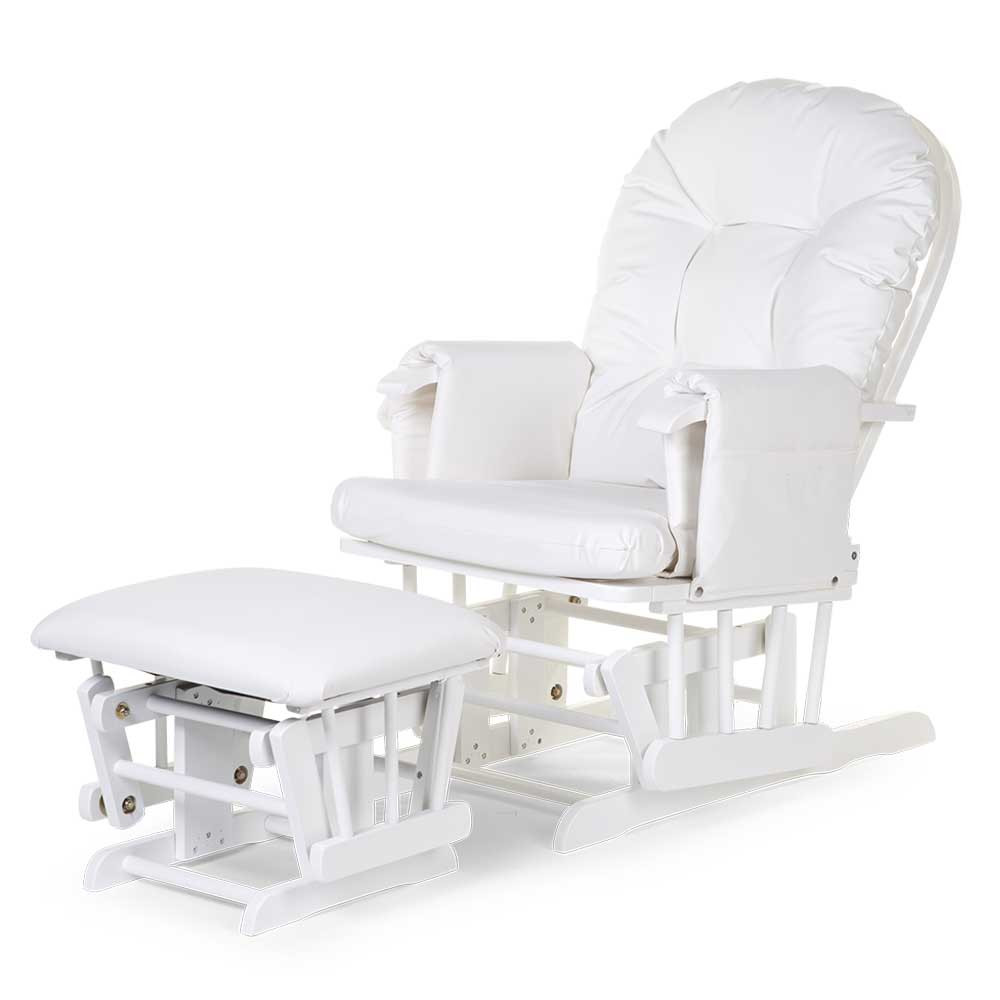 Gliding Chair Childhome Gliding Chair With Footrest White