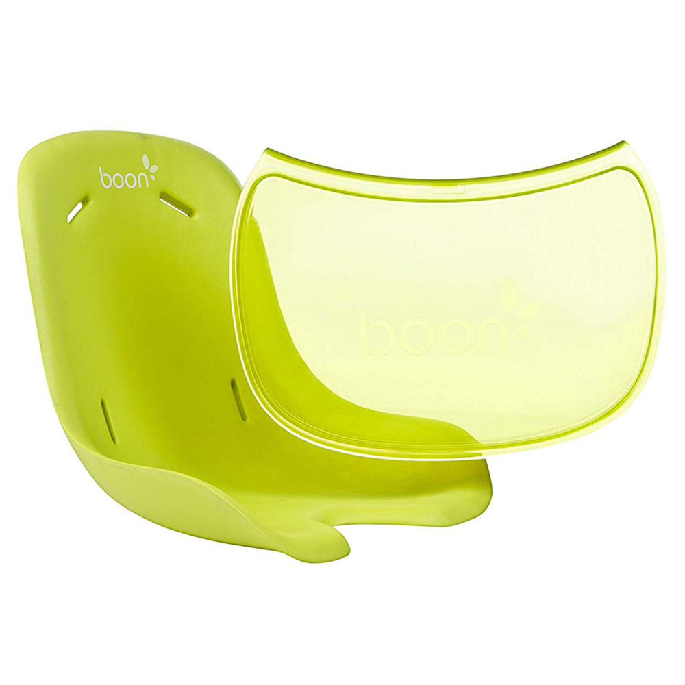 boon flair high chair green small covers highchair seat pad tray liner