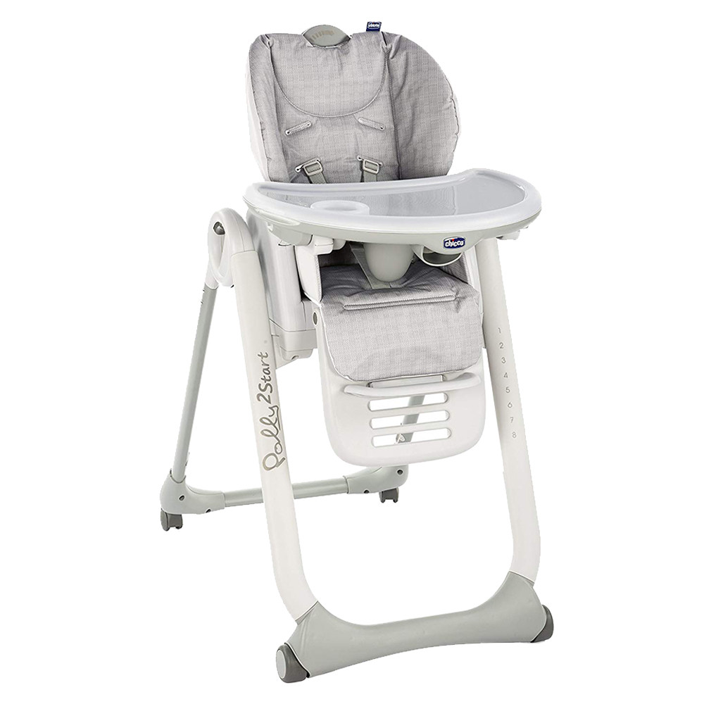 Chair High Chair Chicco Polly2start High Chair Silver