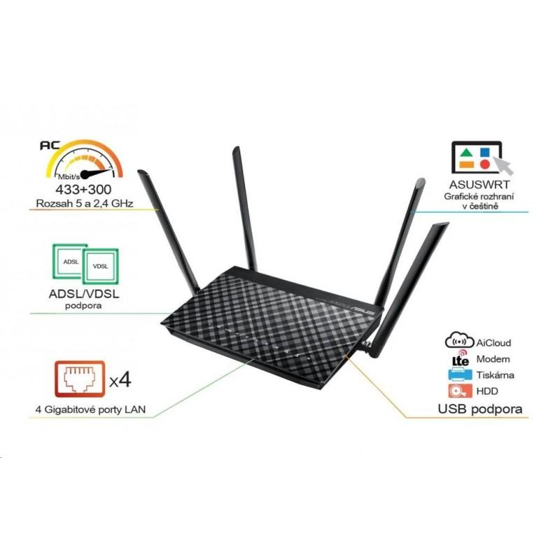 Asus DSL-AC52U Dualband Wireless VDSL2/ADSL Modem AC750