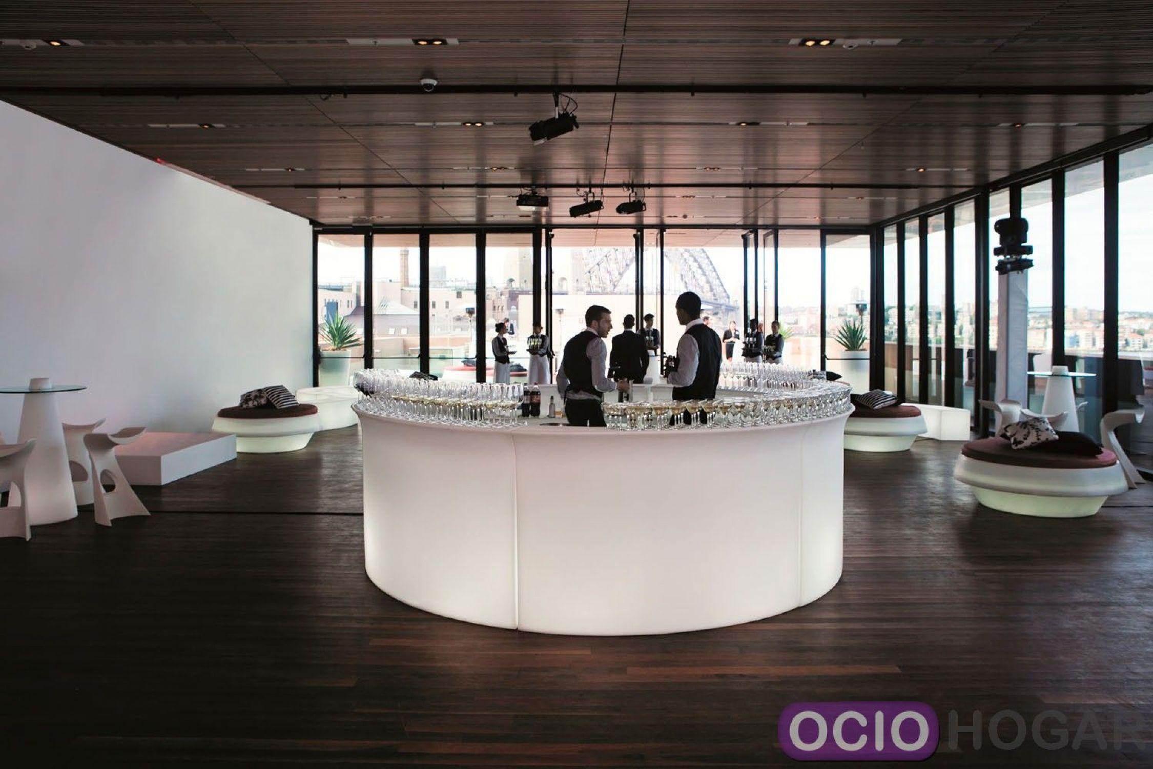Barra de bar con luz Break Bar Slide Design  OcioHogarcom