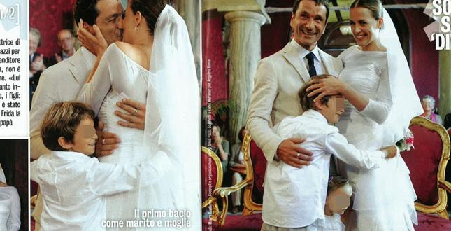 Irene Ferri matrimonio romantico per lattrice