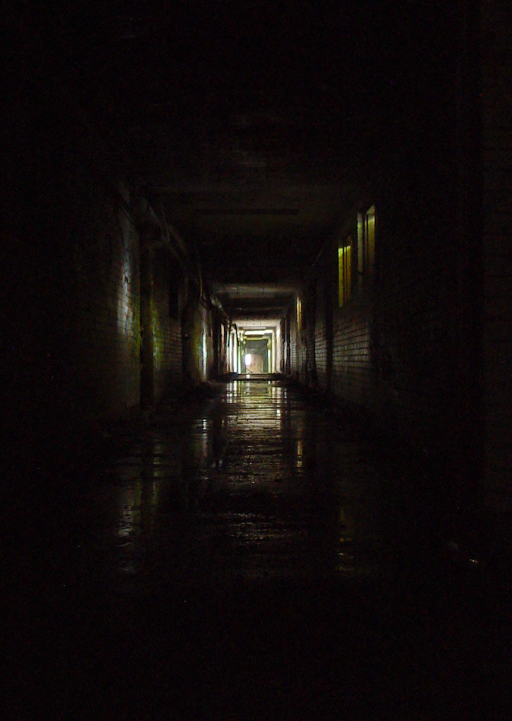 Dark Hallway  Photo of the Abandoned Philadelphia State Hospital Byberry