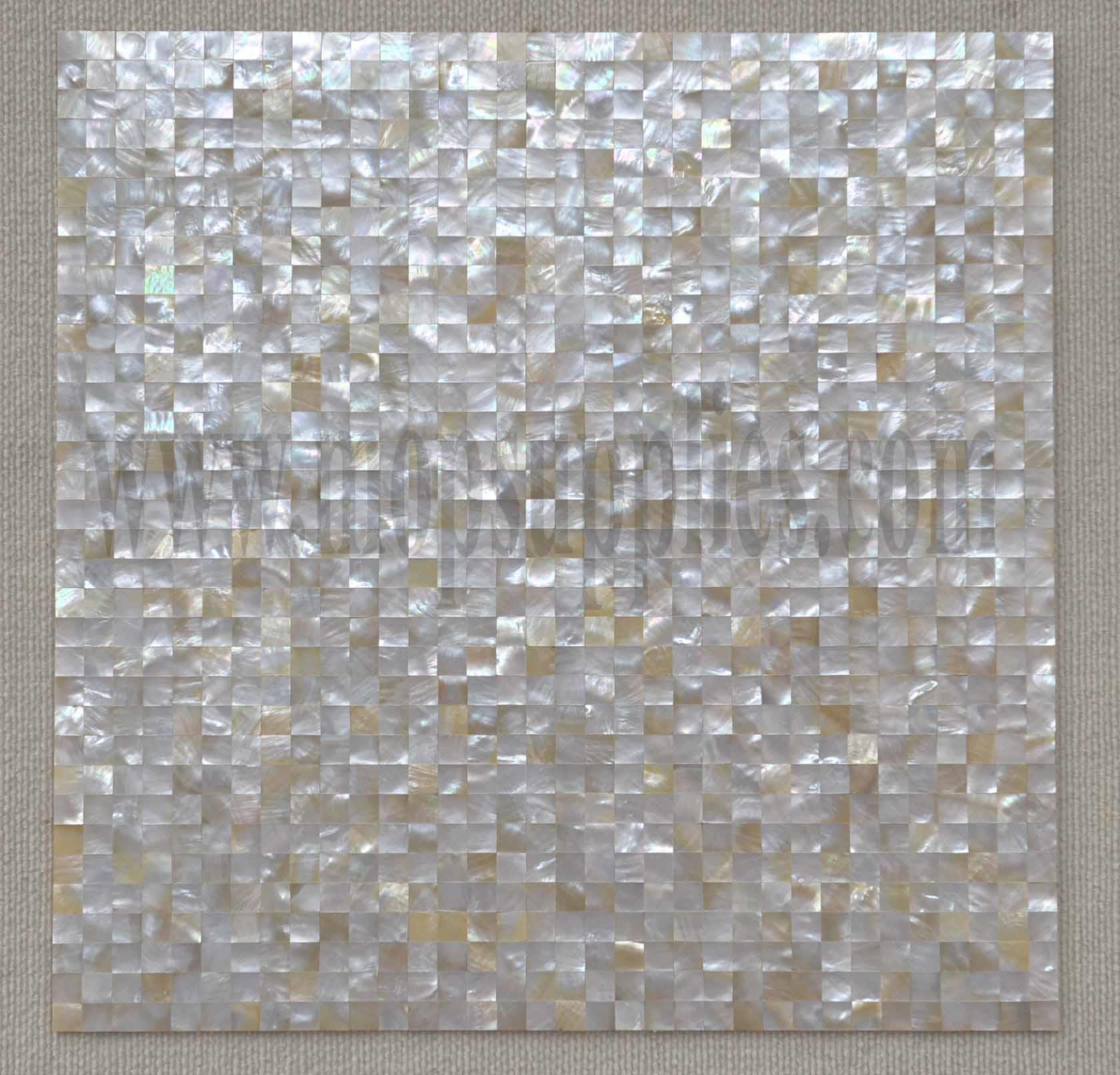 1pc white gold mop tile on mesh 500x500mm 15x15mm mother of pearl supplies