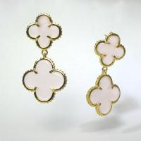 The Double Gem Clover Earrings Heavenly Necklaces - Faux ...