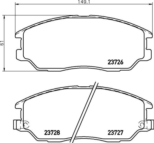 8DB 355 010-861 DISC PAD SET FRONT WITH ACOUSTIC WEAR