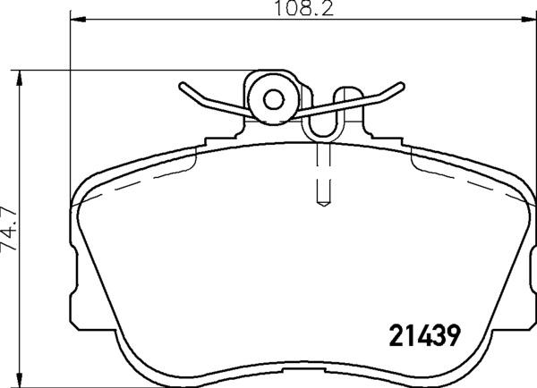 8DB 355 018-041 DISC PAD SET FRONT PREPARED FOR WEAR