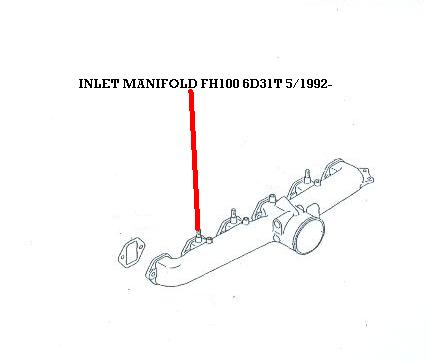 ZZZ 13700.303 INLET MANIFOLD FH100 6D31T 5/1992-1995