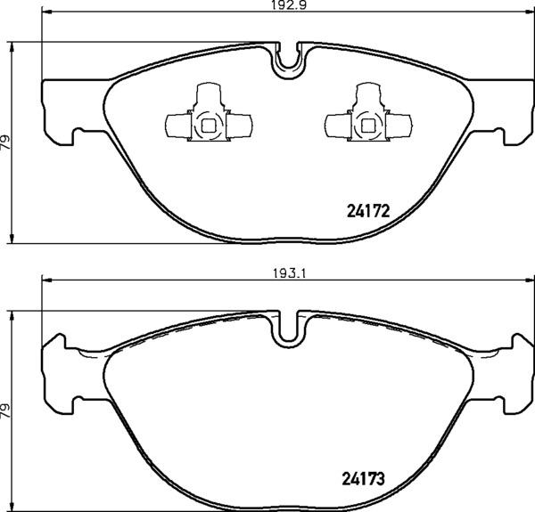 8DB 355 012-661 DISC PAD SET FRONT PREPARED FOR WEAR