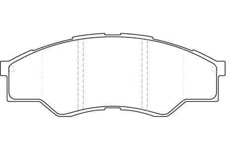 DB1741PM DISC PAD SET FRONT DB1741 FOR HILUX 4 X 2 2004