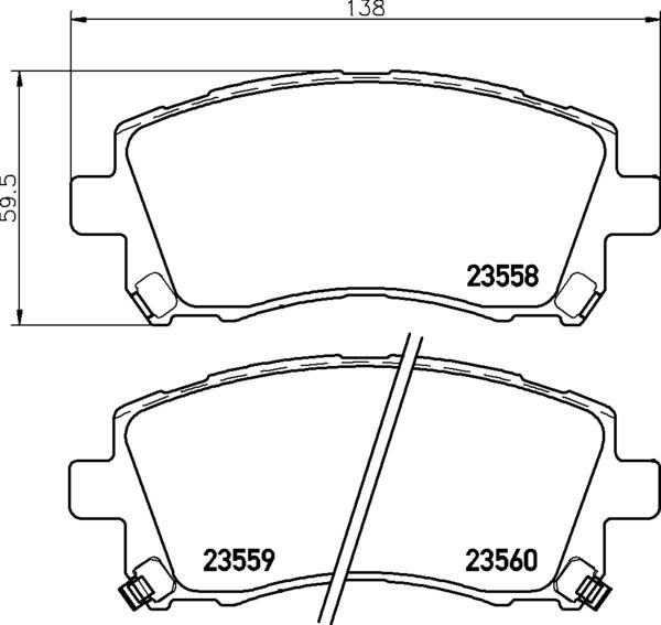 8DB 355 017-291 DISC PAD SET FRONT WITH ACOUSTIC WEAR