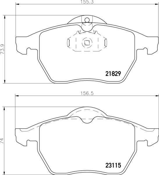 8DB 355 007-771 PREPARED FOR WEAR INDICATOR DISC PAD SET