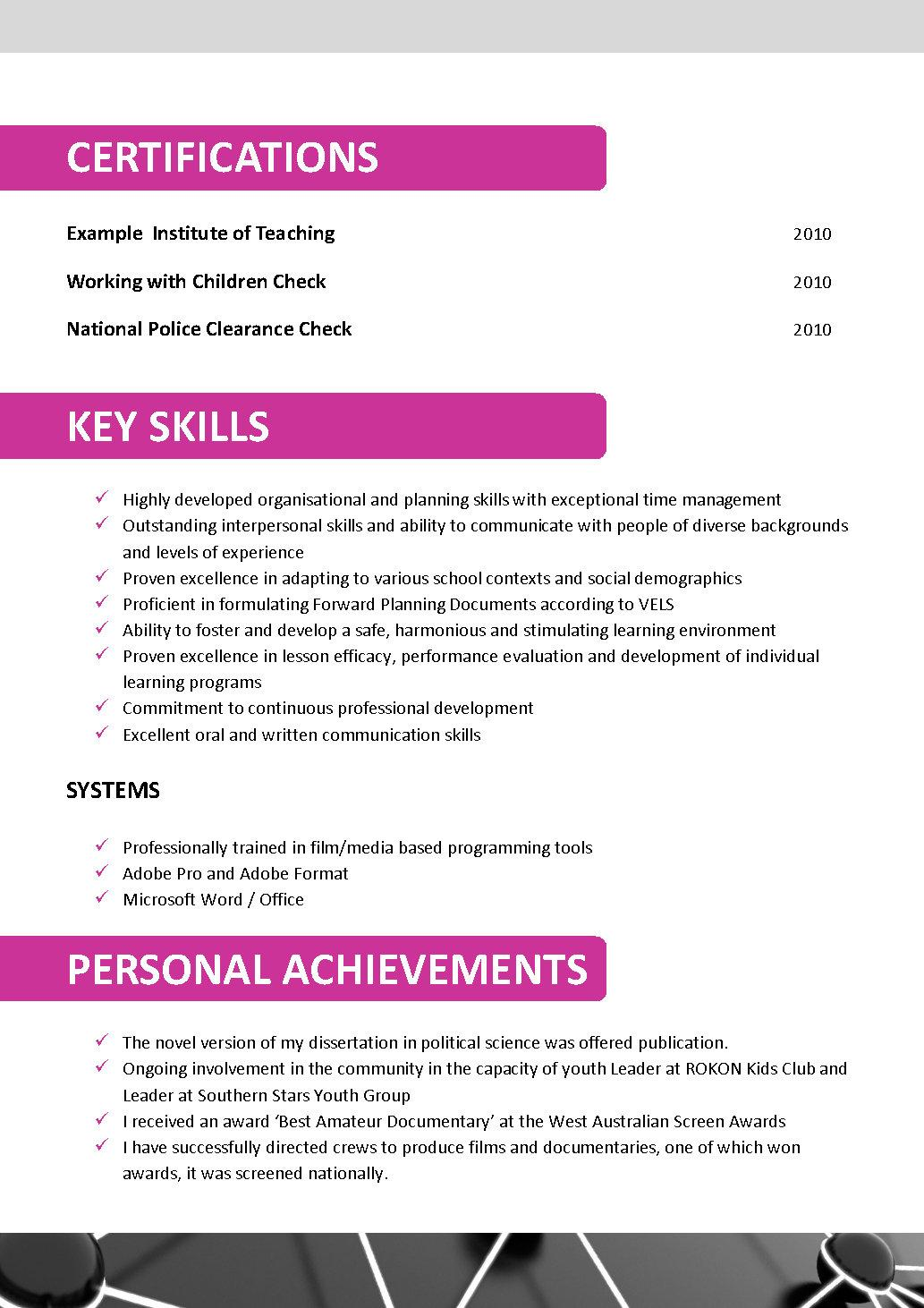 Teenage Resume Template Australia Resume Templates Australian Teachers Example Of Literature