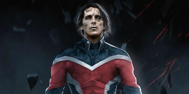Christian Bale As Captain Britain Fan Art  ScreenRant