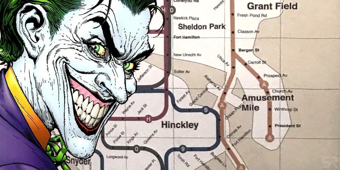 Arkham Knight Subway Map.Joker S Gotham Subway Map Is Packed With Easter Eggs Including