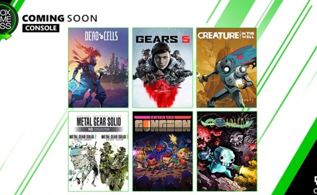 Gears 5 Metal Gear Solid Headline New Xbox Game Pass
