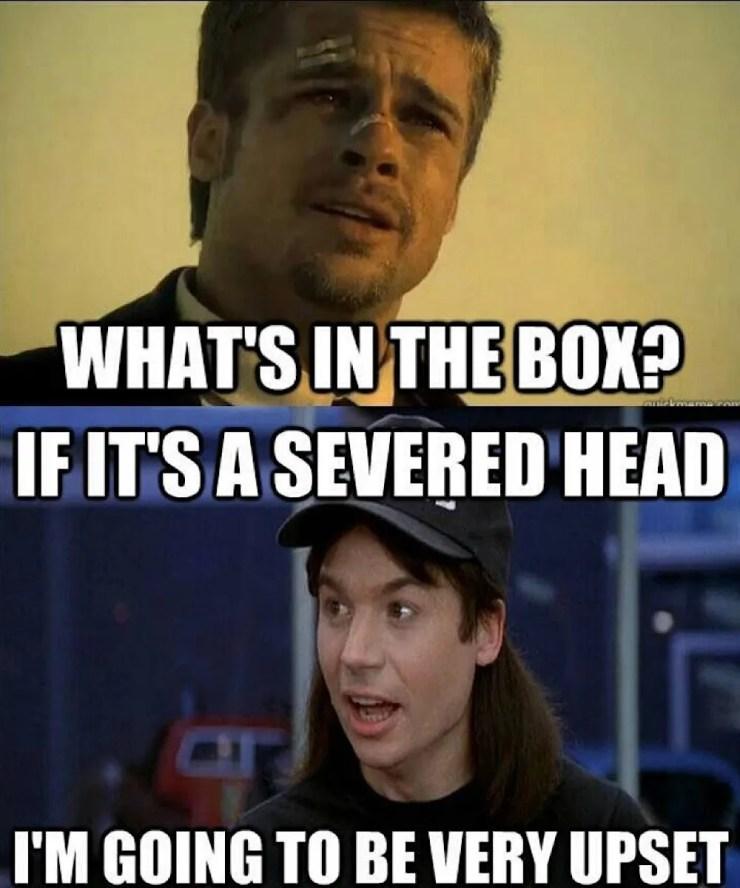 Seven What's In The Box Meme : seven, what's, What's, Hilarious, Se7en, Memes, ScreenRant