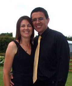Joe Fraser with wife Trish, who died in a road cycle accident on Saturday.