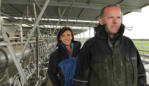 guineys dining chair covers room chairs with wheels and arms grass greener when it saves cash stuff co nz low cost winners kieran leonie guiney of fairlie farm a
