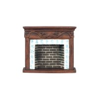 Brown Resin Fireplace Mantle | Dollhouse Miniature ...