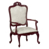 Fancy Vict.armchair/mahog | Dollhouse Arm Chairs ...