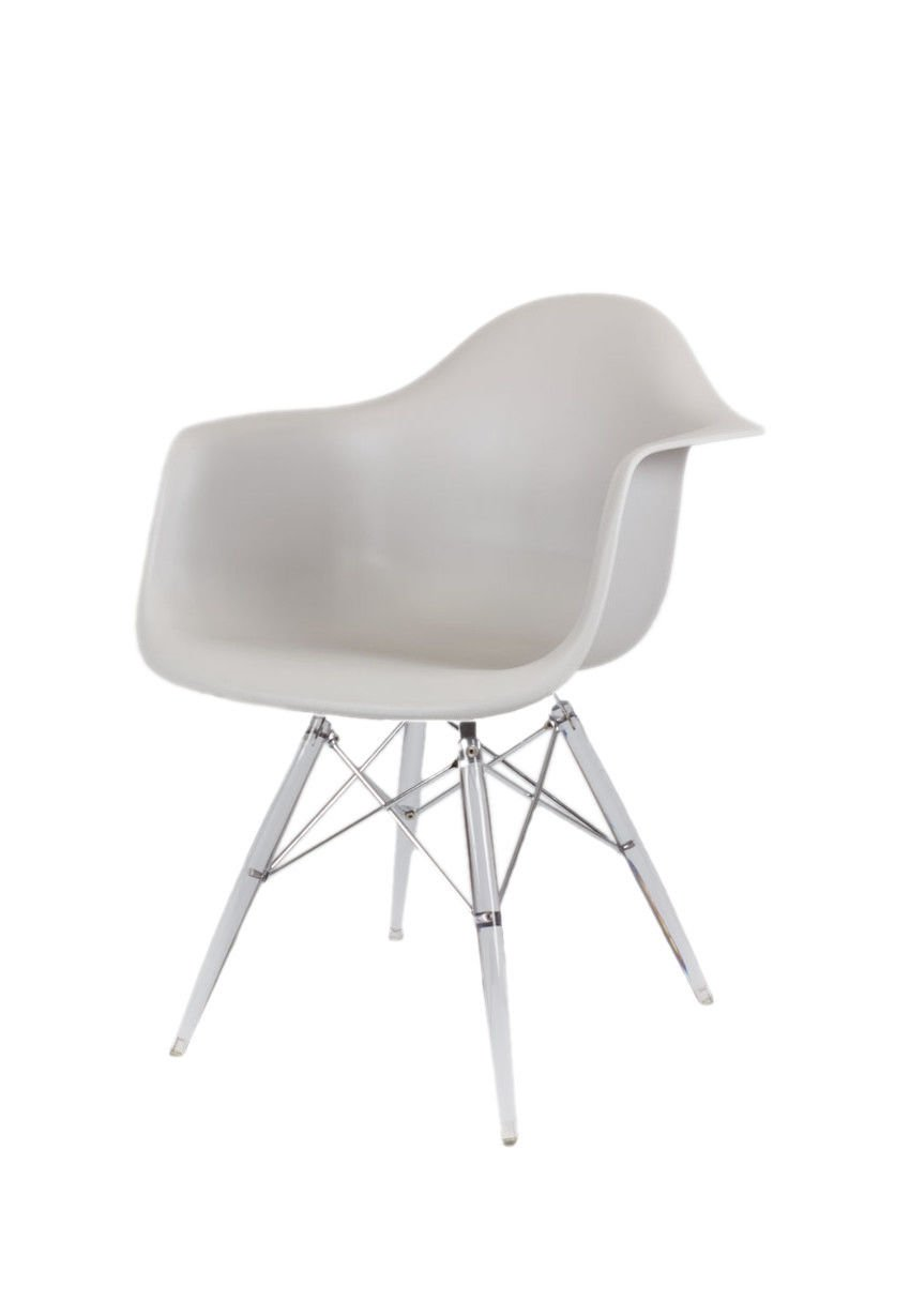 Plastic Clear Chair Sk Design Kr012f Light Grey Armchair Clear
