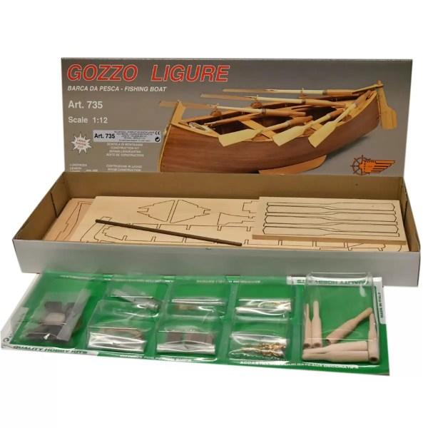 Gozzo Ligure hajómakett építőkészlet Mantua