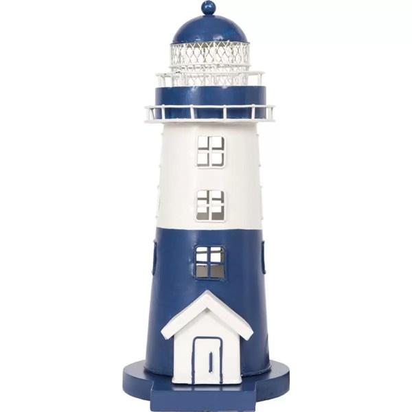 Világítótorony világítással kék 30 cm Lámpa