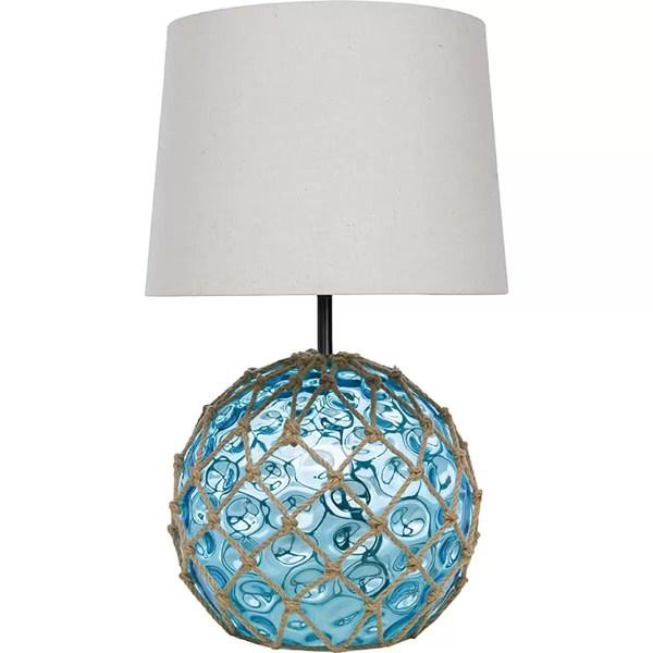 Kék üvegbója lámpa Bója