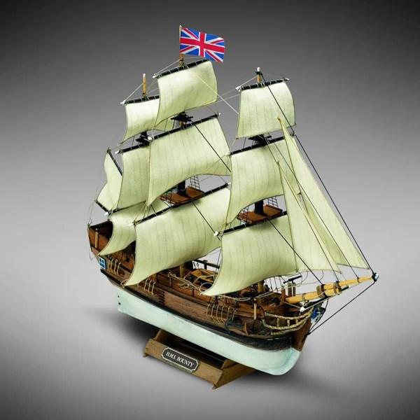 HMS Bounty hajómakett építőkészlet Kezdő és gyerek kitt