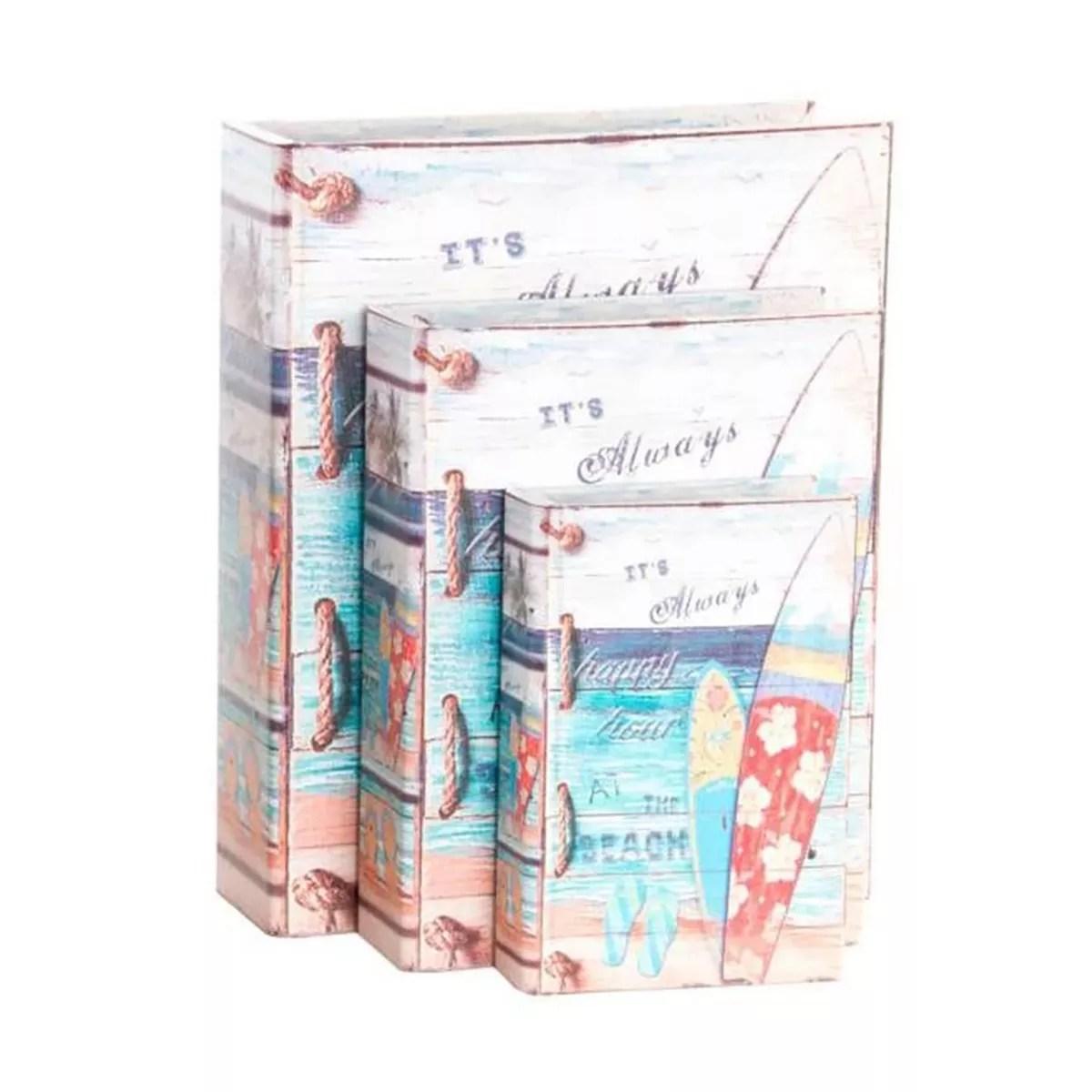 Könyvdoboz tengerparti nagy Kincsesláda, tároló