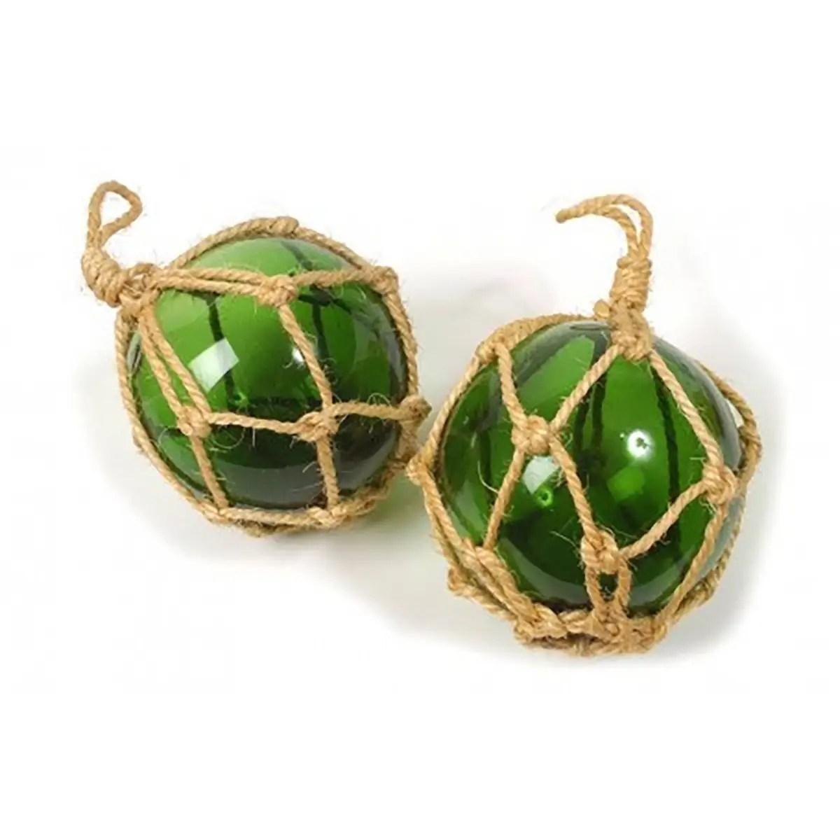 Üvegbója zöld 15 cm Bója