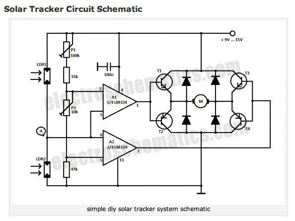 solar tracker schematic picture