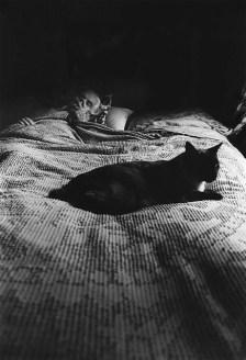 Cat on Grandma's Bed