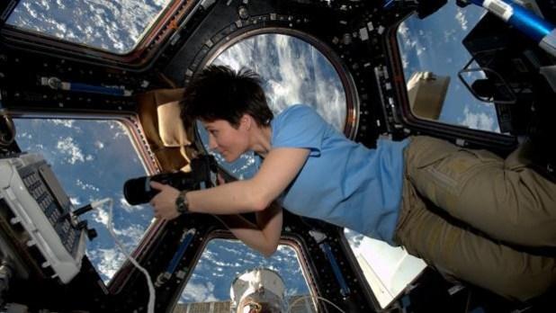 La astronauta Samantha Cristoforetti, en la ISS en una imagen de archivo