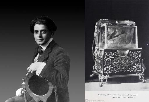 Giuseppe Anselmi and the urn with his heart